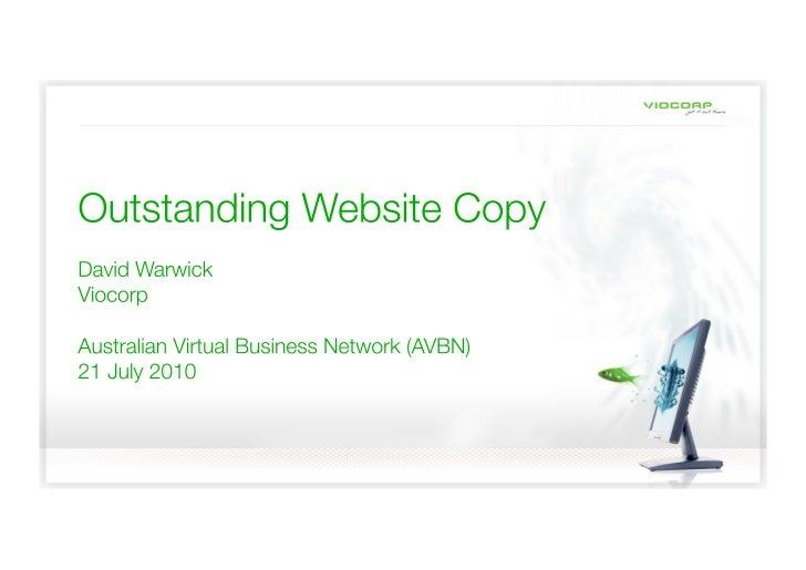 AVBN Outstanding Website Copy