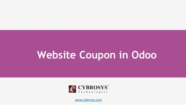 www.cybrosys.com Website Coupon in Odoo