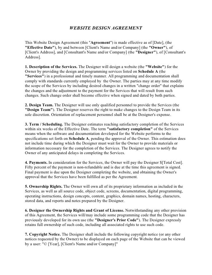 Software Development Agreement Template Developer Agreement