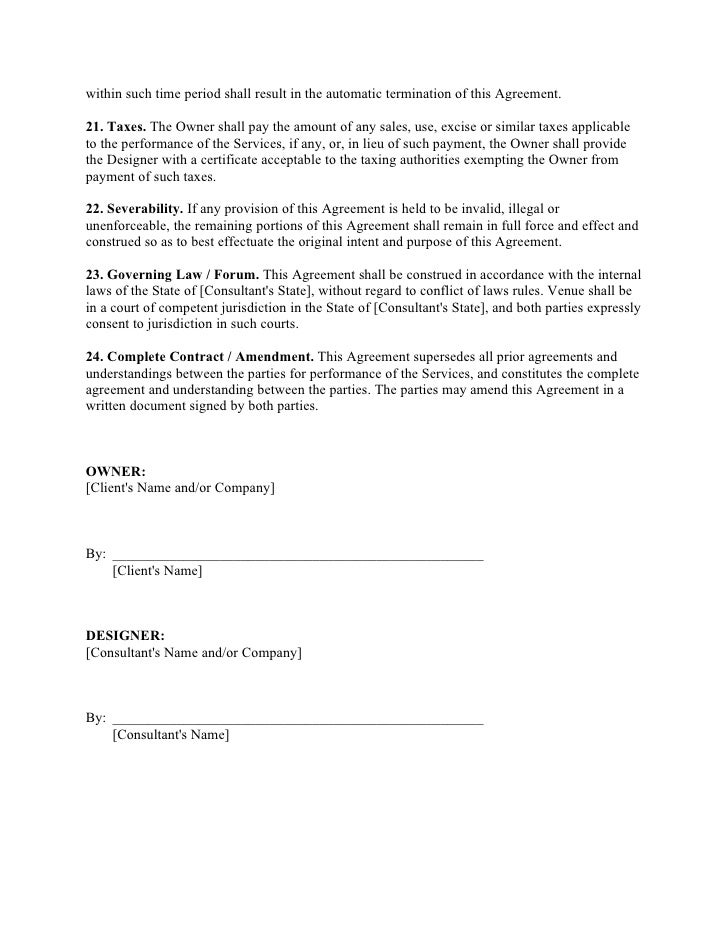 Website Design Agreement Template