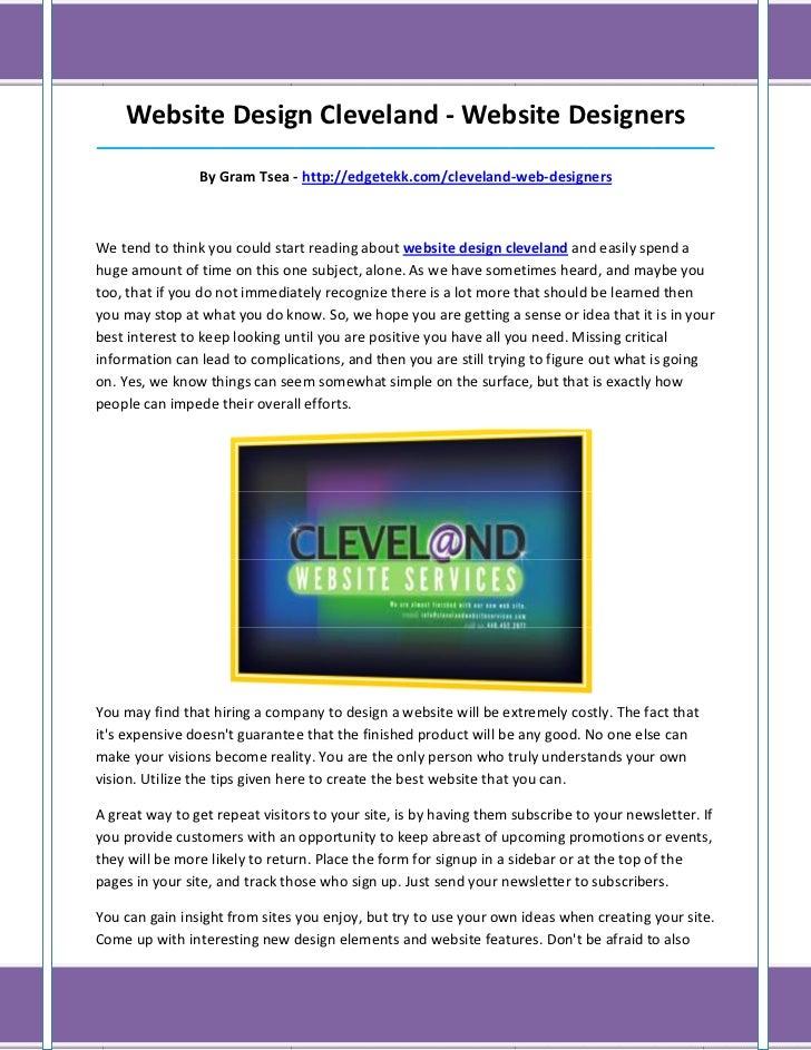 Website Design Cleveland - Website Designers______________________________________________________________________________...