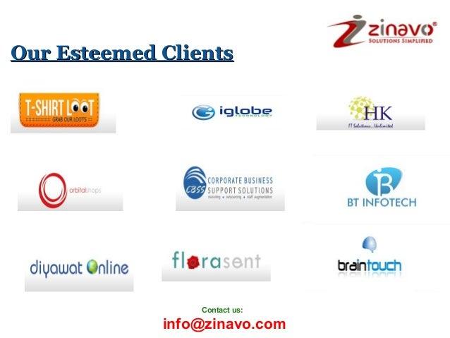 Our Esteemed Clients  Contact us:  info@zinavo.com