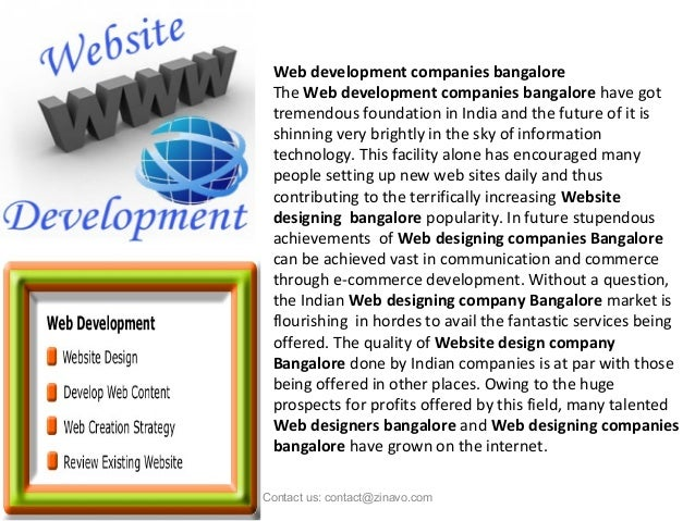 Web development companies bangalore The Web development companies bangalore have got tremendous foundation in India and th...