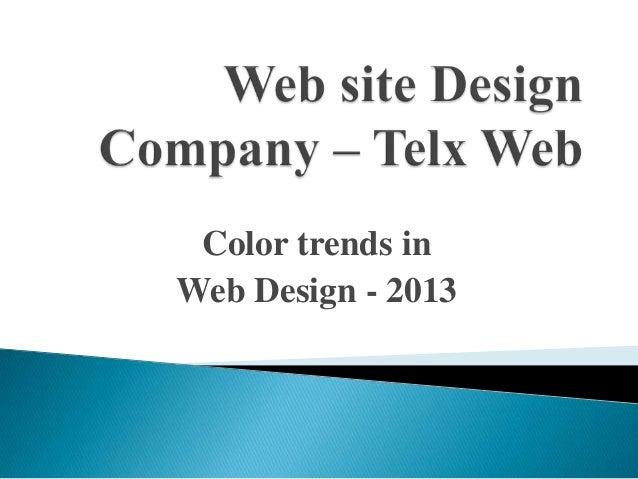 Color trends in Web Design - 2013