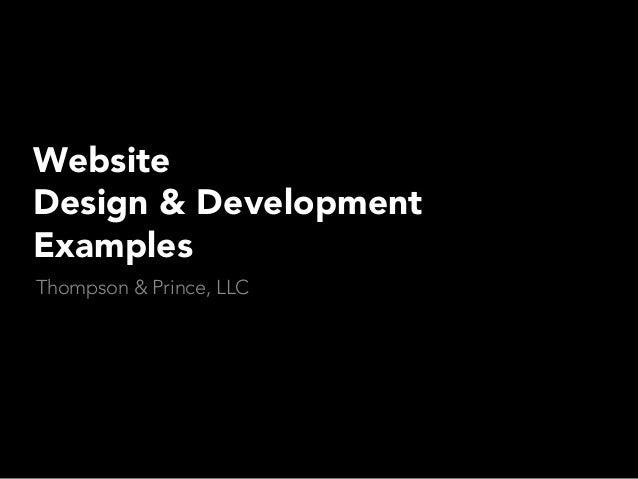 Website Design & Development Examples Thompson & Prince, LLC