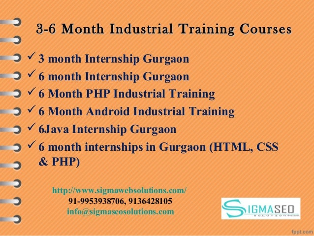 3-6 Month Industrial Training Courses3-6 Month Industrial Training Courses 3 month Internship Gurgaon 6 month Internship...