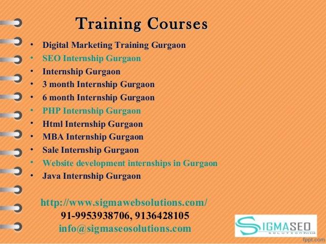 Training CoursesTraining Courses • Digital Marketing Training Gurgaon • SEO Internship Gurgaon • Internship Gurgaon • 3 mo...