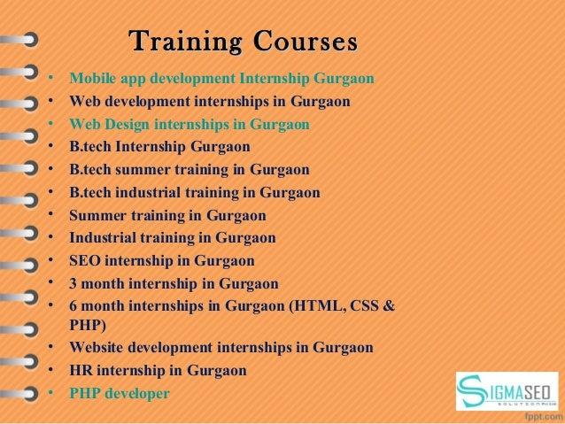 Training CoursesTraining Courses • Mobile app development Internship Gurgaon • Web development internships in Gurgaon • We...