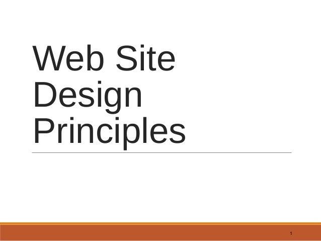 Web Site Design Principles 1