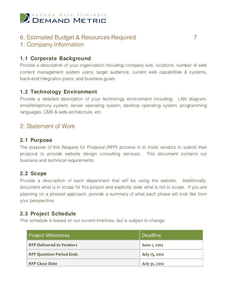 Design Build Rfp Template Website Design Rfp Template