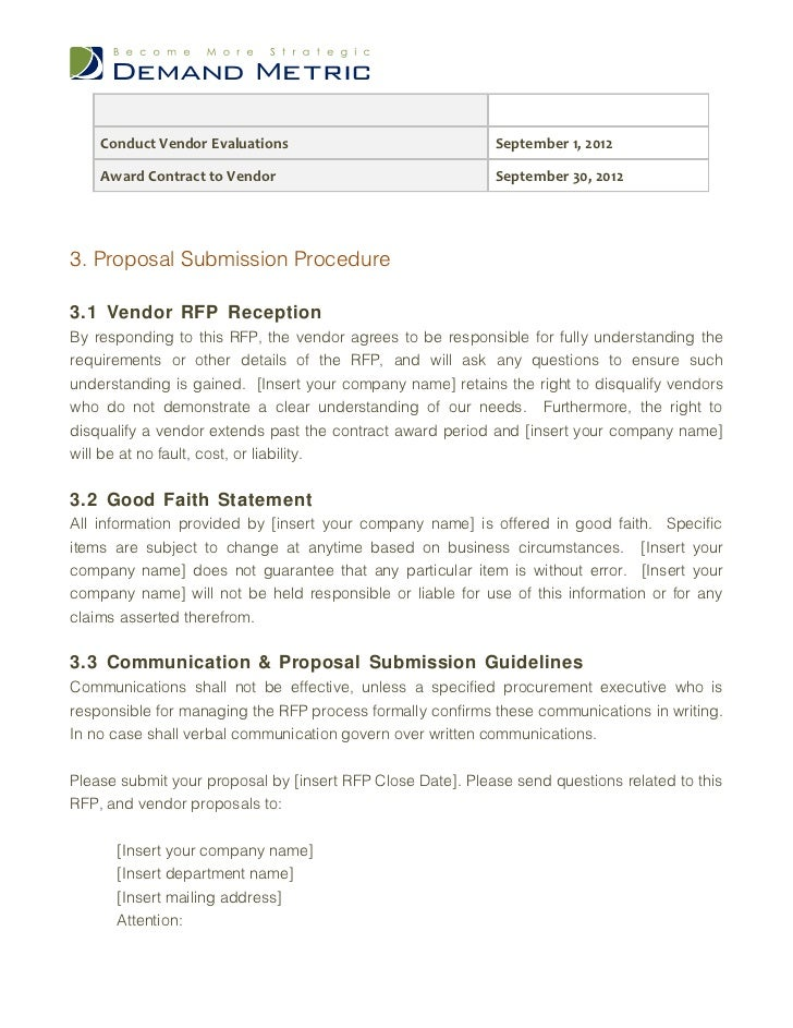 Design RFP Template