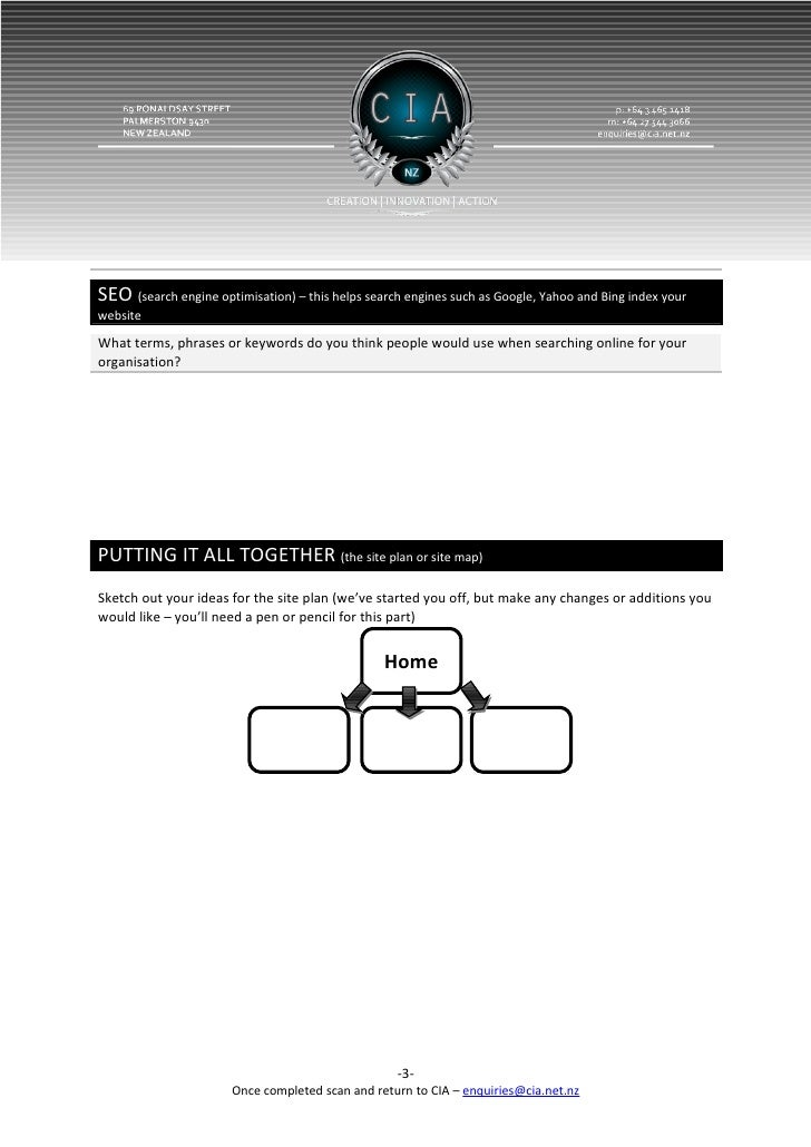 Website design scoping template pronofoot35fo Choice Image