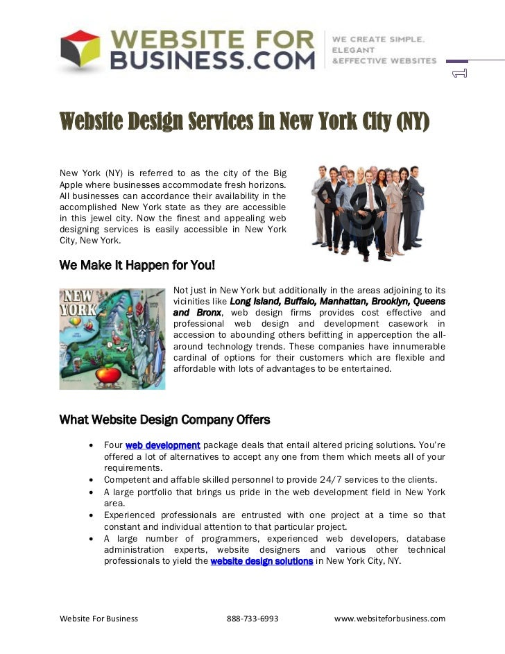 Website Design Services in New York City (NY)New York (NY) is referred to as the city of the BigApple where businesses acc...