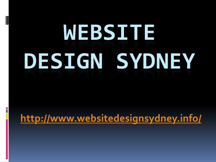 WEBSITEDESIGN SYDNEYhttp://www.websitedesignsydney.info/