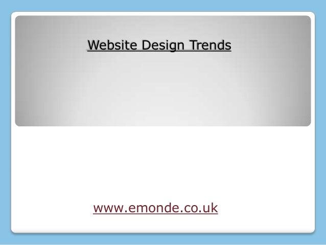 Website Design Trendswww.emonde.co.uk