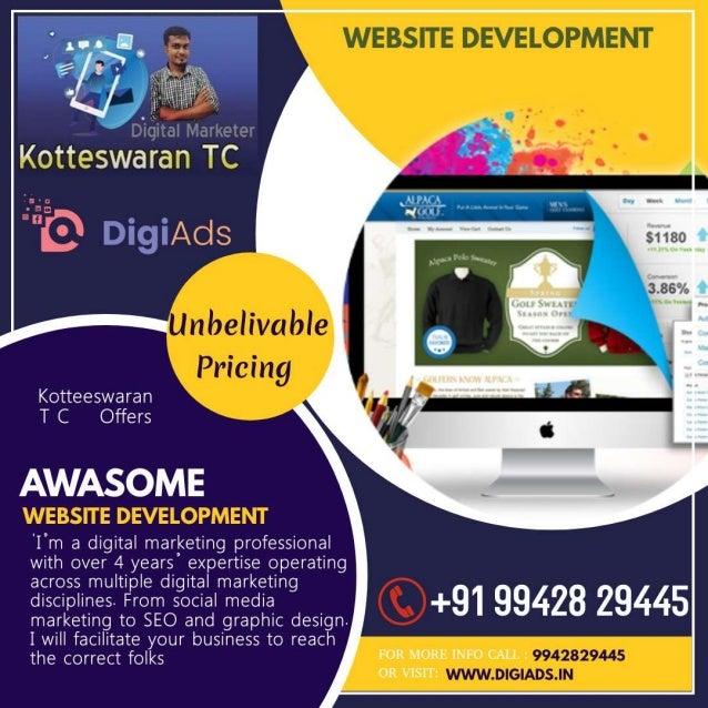 Website development   kotteeswaran t c - digital marketing - digiads