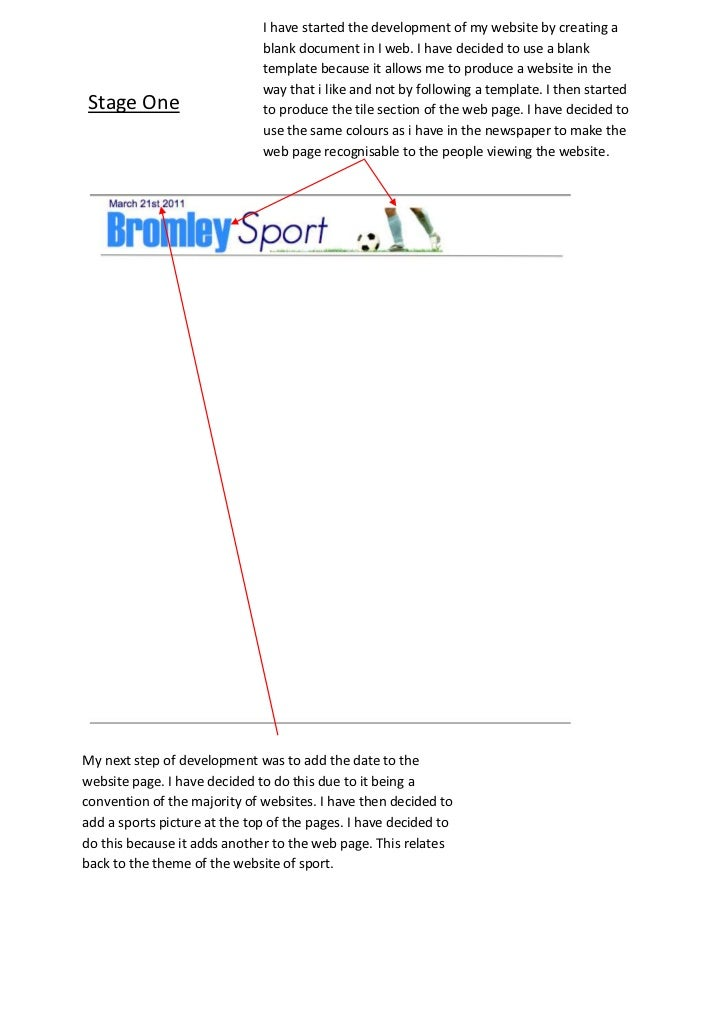 I have started the development of my website by creating a blank document in I web. I have decided to use a blank template...