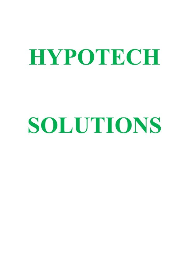 HYPOTECHSOLUTIONS