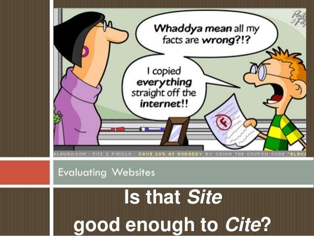 Website evaluation