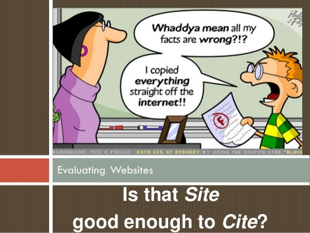 Is that Sitegood enough to Cite?