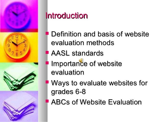 Website Evaluation Methods Power Point