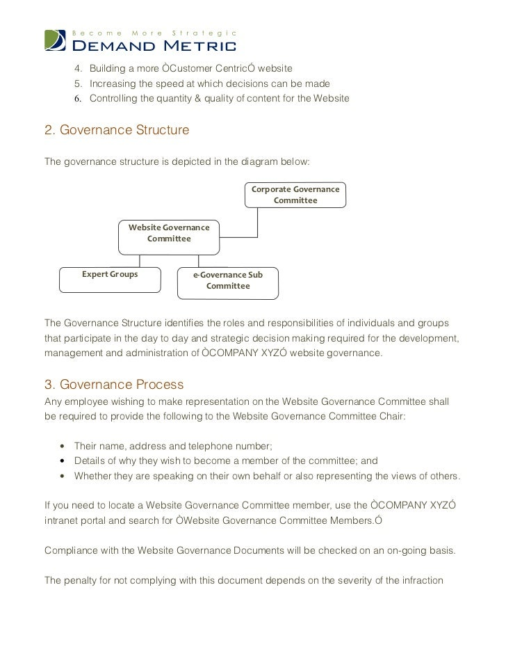 how to create a governance document