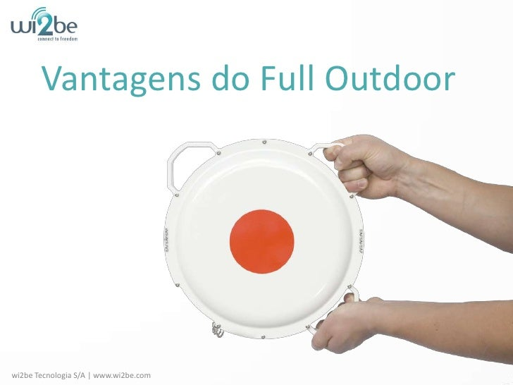 Vantagens do Full Outdoor<br />wi2be Tecnologia S/A | www.wi2be.com<br />