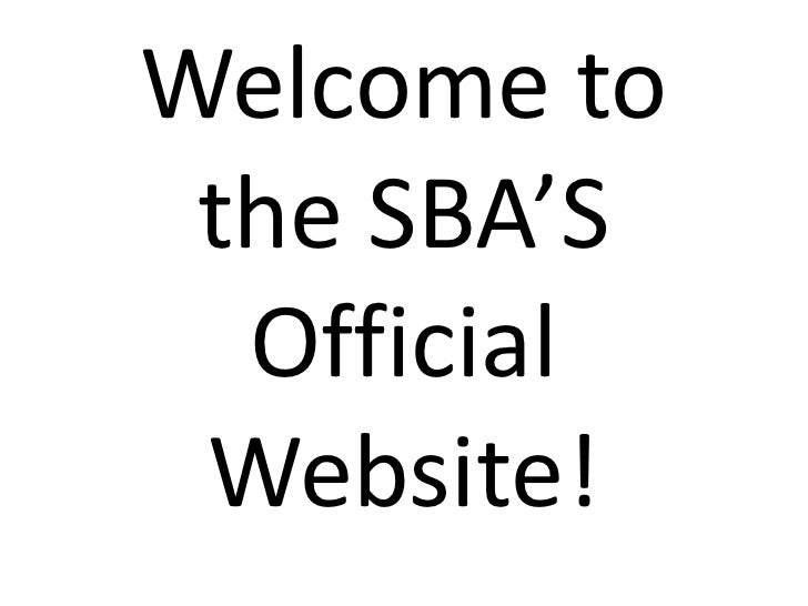 Welcome to the SBA'S Official Website!<br />