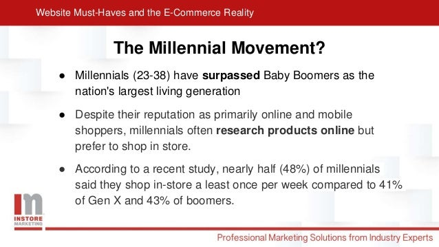 Website Must-Haves and the E-Commerce Reality Slide 2