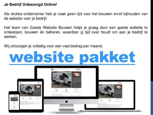 website pakket Je Bedrijf Onbezorgd Online! Als drukke ondernemer heb je vaak geen tijd voor het bouwen en/of bijhouden va...