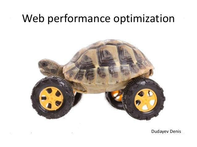 Web performance optimization Dudayev Denis