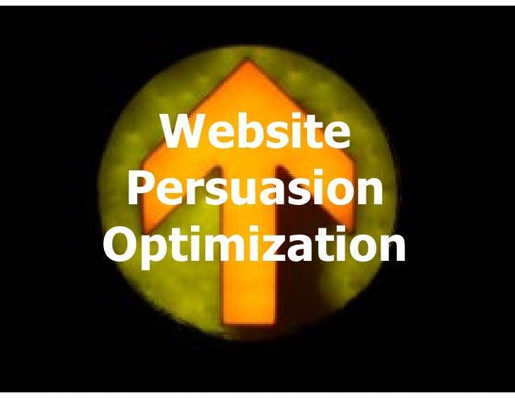 Website  Persuasion Optimization