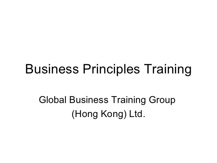 Business Principles Training Global Business Training Group  (Hong Kong) Ltd.