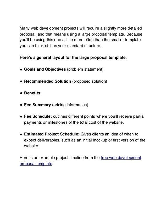 ecommerce website proposal sample