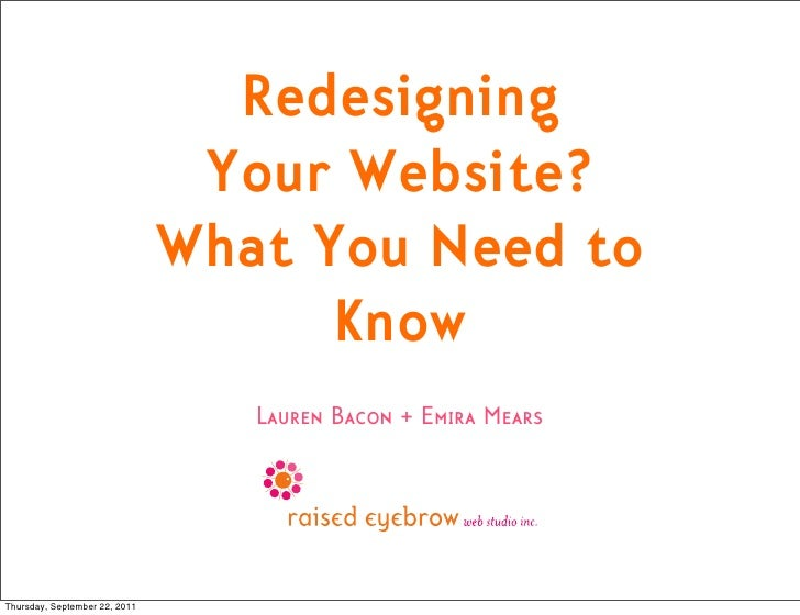 Redesigning                                Your Website?                               What You Need to                   ...