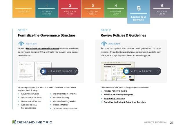 website redesign playbook