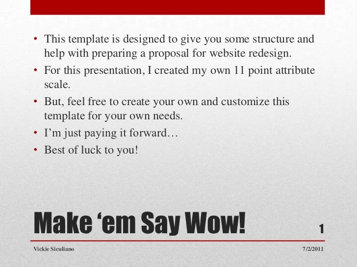 How To Prepare A Website Redesign Proposal