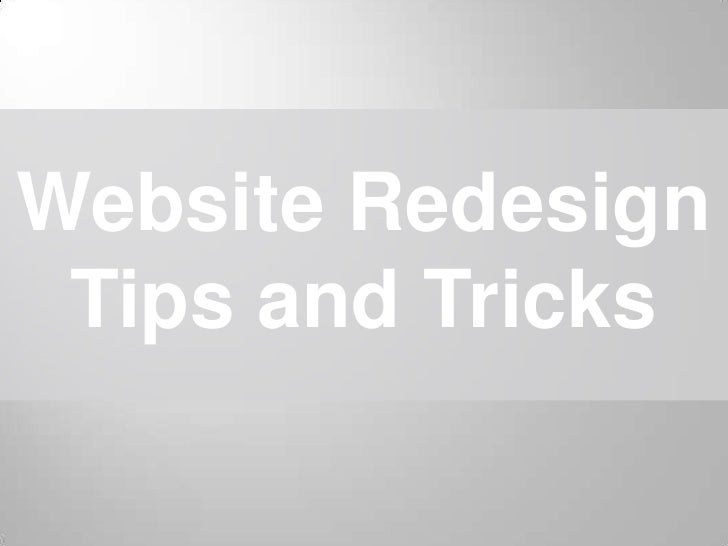 Website Redesign Tips and Tricks