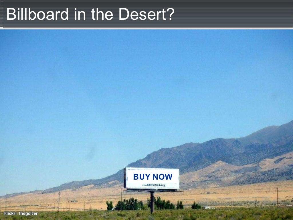 billboard in the desert  buy