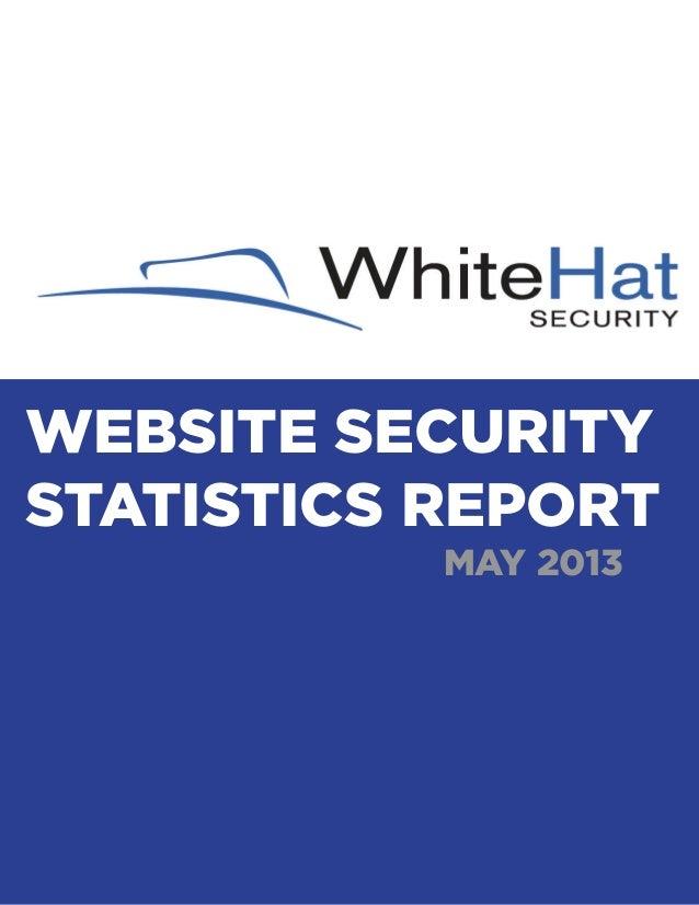 WEBSITE SECURITY STATISTICS REPORT MAY 2013  WEBSITE SECURITY STATISTICS REPORT | MAY 2013  1