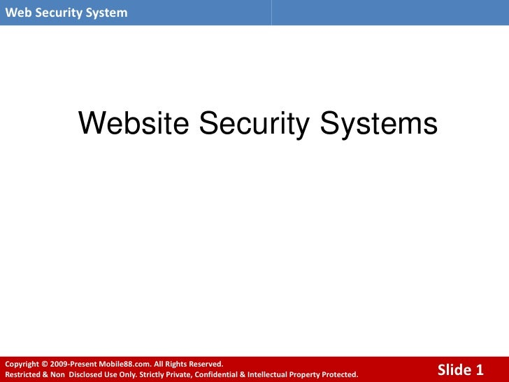 Web Security System                          Website Security Systems     Copyright © 2009-Present Mobile88.com. All Right...
