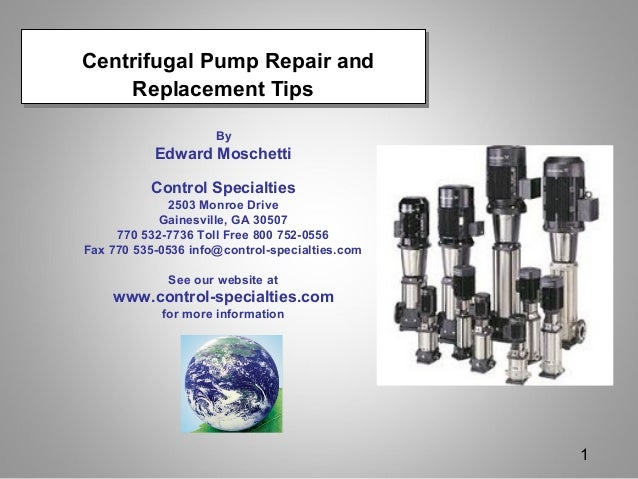 Centrifugal Pump Repair and Replacement Tips