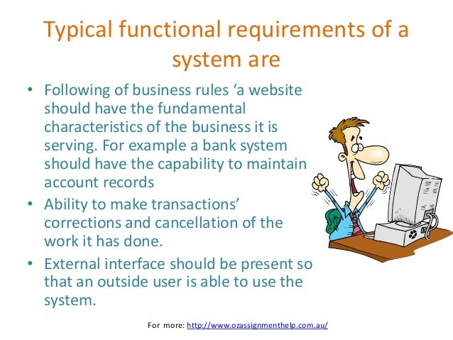 Websites Functional And Non Functional Requirements - Functional requirements examples