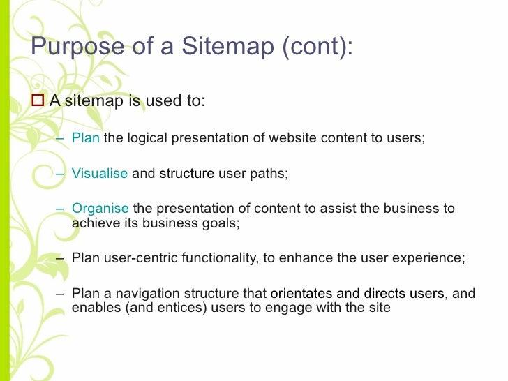 creating a website sitemap