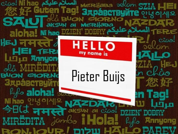 Pieter Buijs Pieter Buijs
