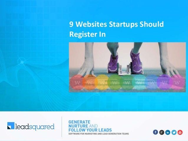 9 Websites Startups Should Register In