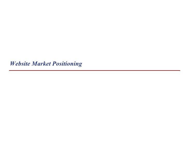 Website Market Positioning