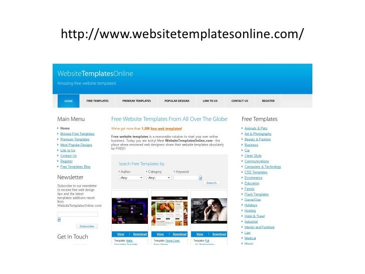 Top free sites to download free web templates for Best free website templates