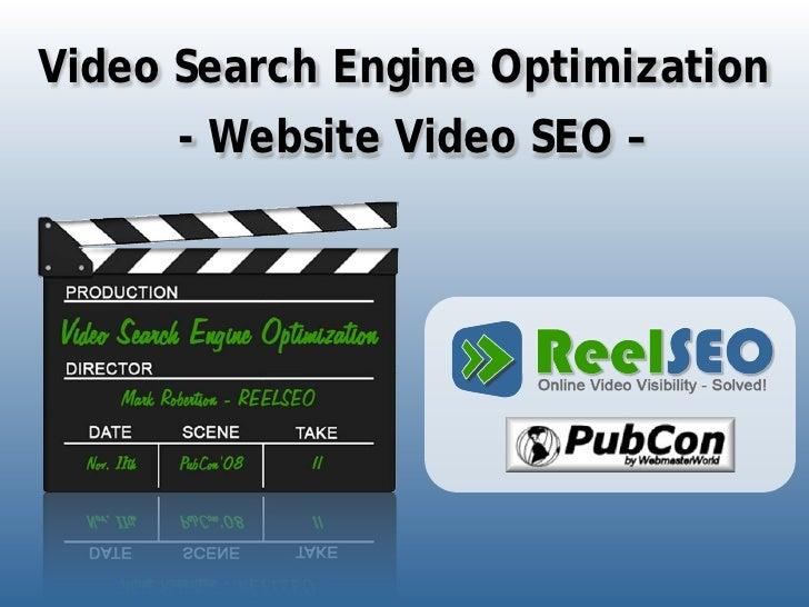 Video Search Engine Optimization       - Website Video SEO –