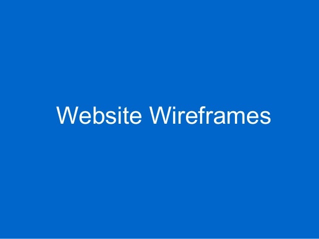Website Wireframes